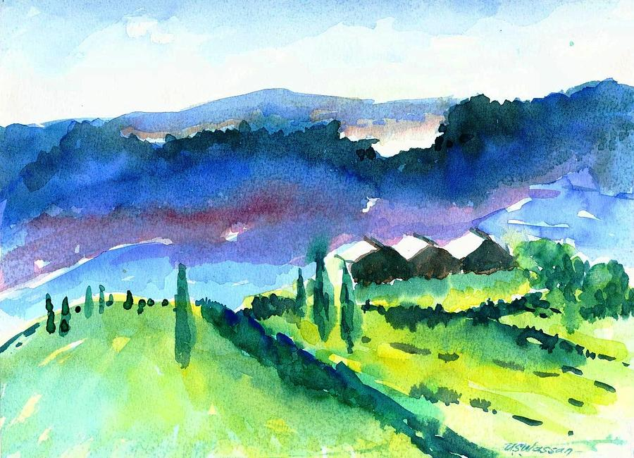 Landscape Painting - Tuscanny Remembered by Ujjagar Singh Wassan