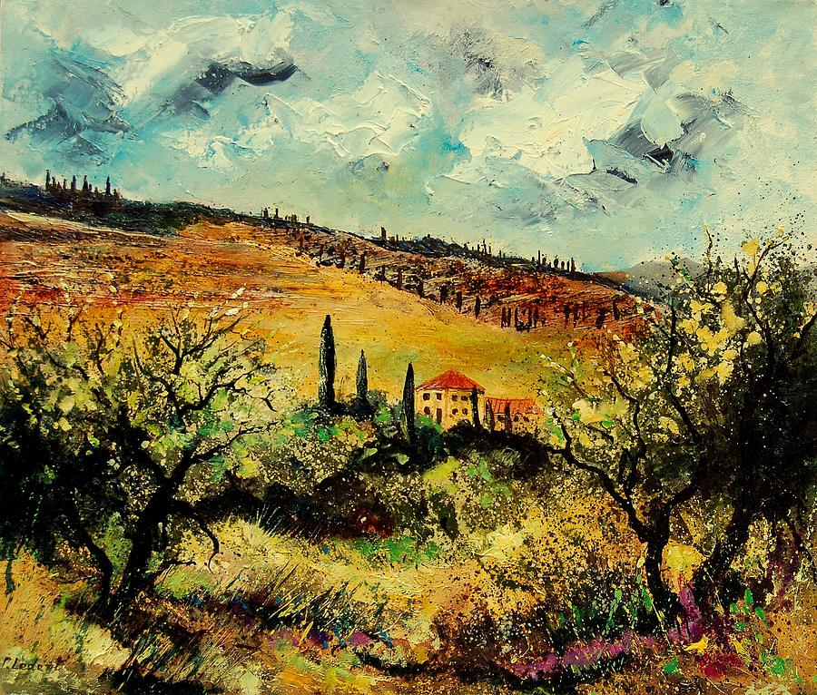 Provence Painting - Tuscany 67 by Pol Ledent