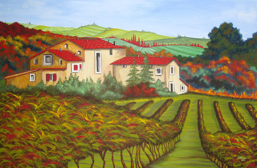 Tuscany Painting - Tuscany by Amanda Schambon