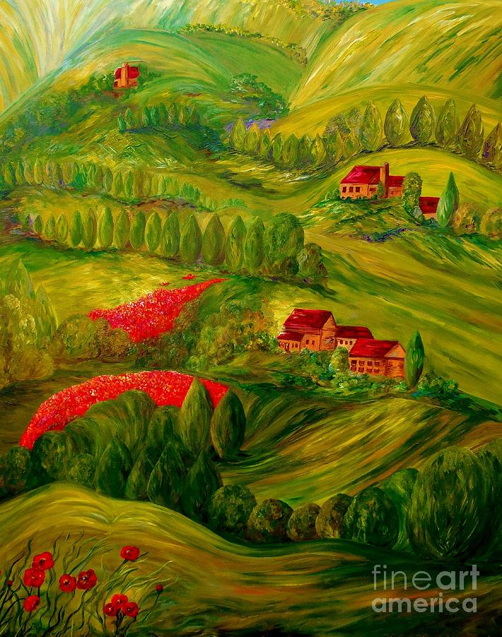Tuscany Painting - Tuscany At Dawn by Eloise Schneider