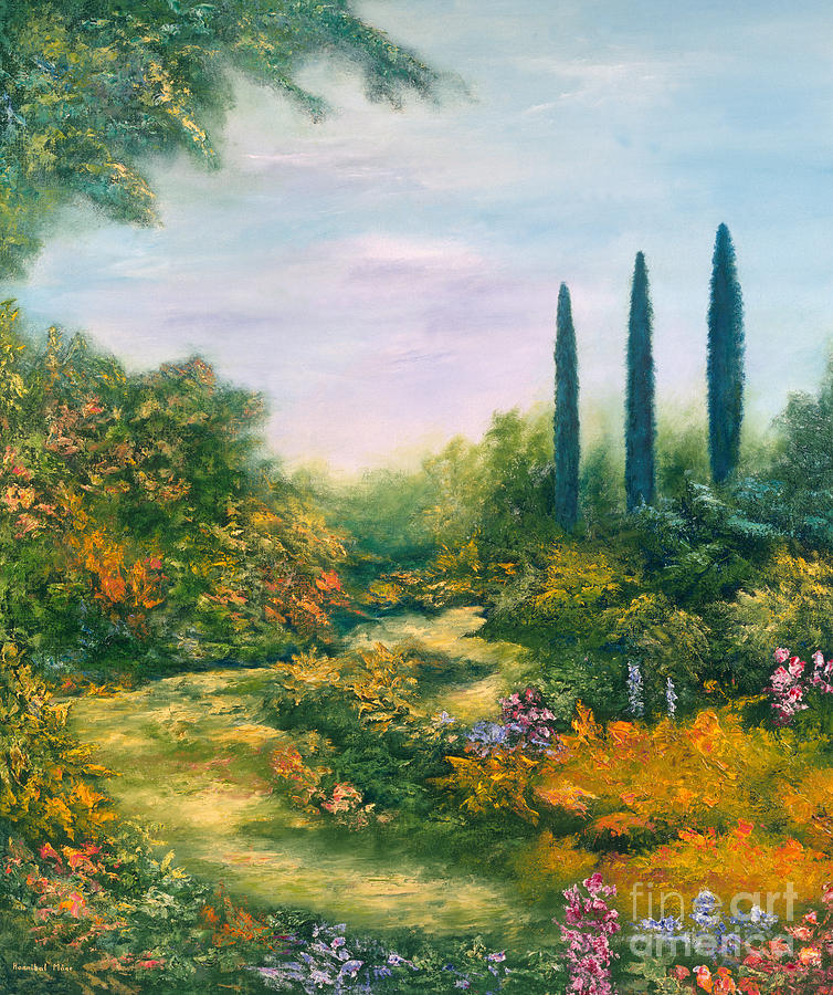 Tuscany Painting - Tuscany Atmosphere by Hannibal Mane