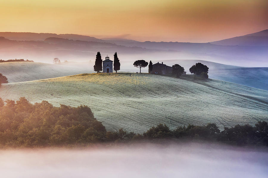 Italy Photograph - Tuscany Church On The Hill by Evgeni Dinev