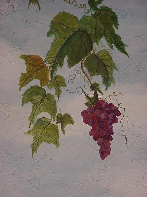 Grapes Painting - Tuscany Close Up by Lisa Ruggiero