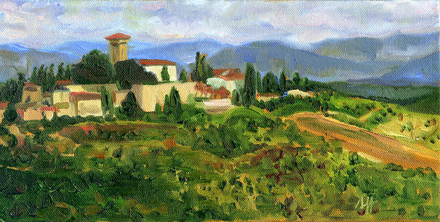 Landscape Painting - Tuscany from Castello di Verrazzano by Jennie Traill Schaeffer
