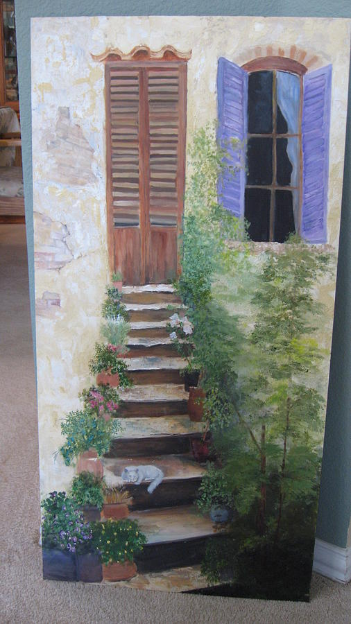 Tuscany Home Painting by Colleen DalCanton