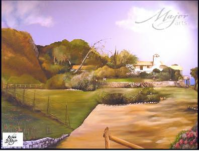 Wall Mural Painting - Tuscany Landscape by Brian  Major