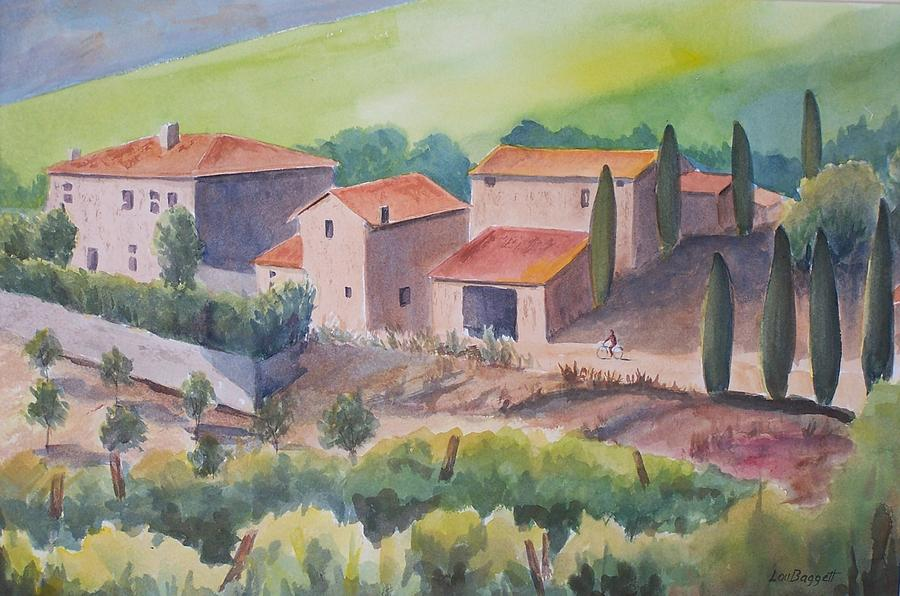 Landscape Painting - Tuscany by Lou Baggett