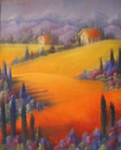 Landscape Painting - Tuscany by Patricia Halstead