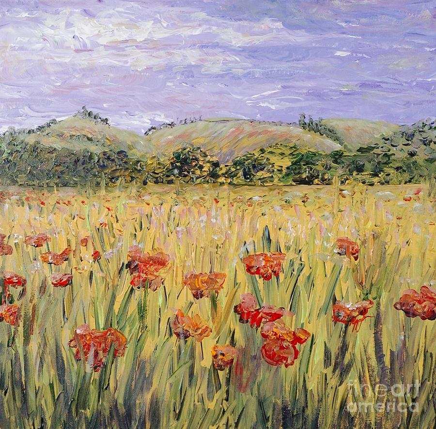 Poppies Painting - Tuscany Poppies by Nadine Rippelmeyer