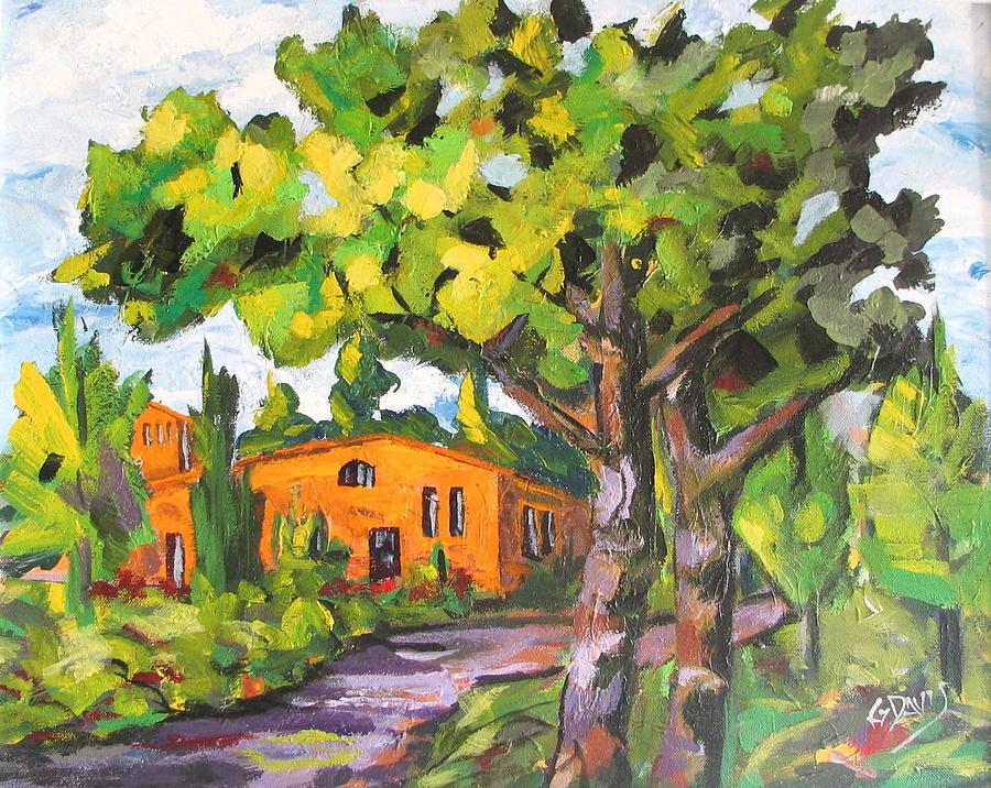 Landscape Painting - Tuscany Tranquiity by Gordon Davis