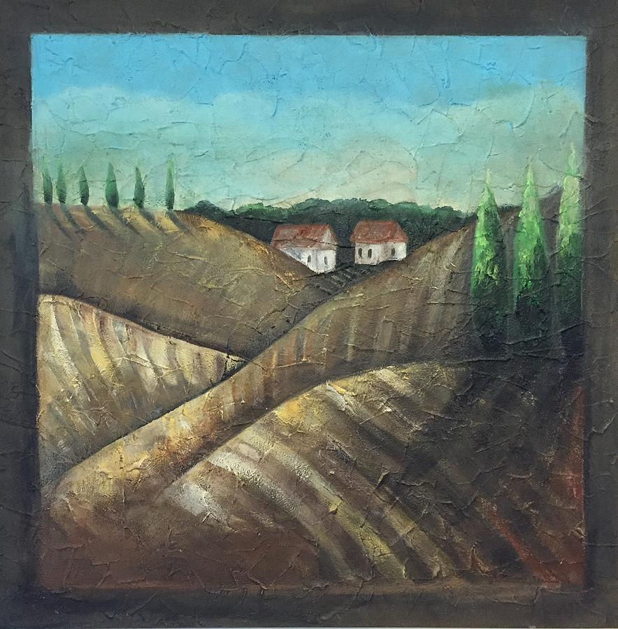 Tuscany Painting - Tuscany Trees by Christy Chen