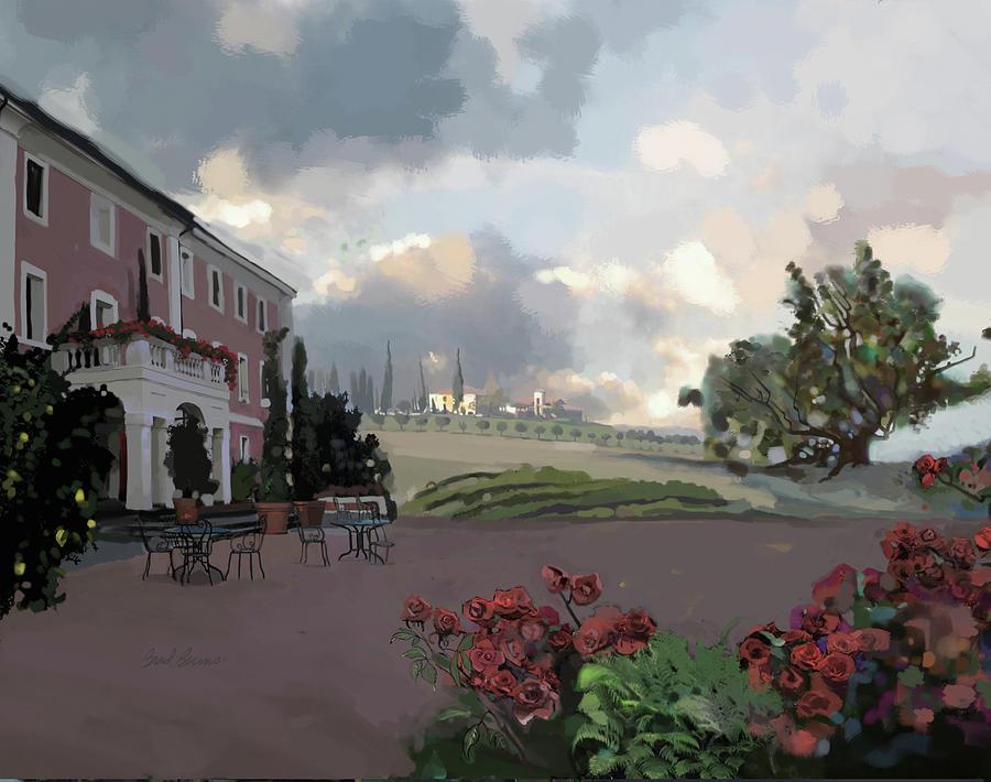Tuscany Villa Painting