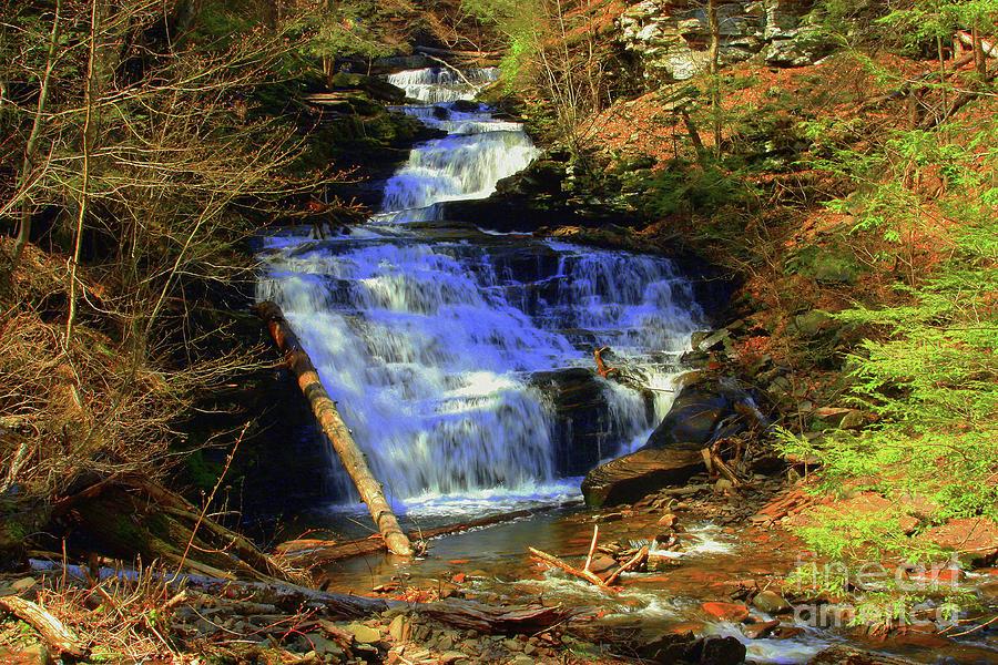 Waterfall Photograph - Tuscarora Falls by Patti Whitten