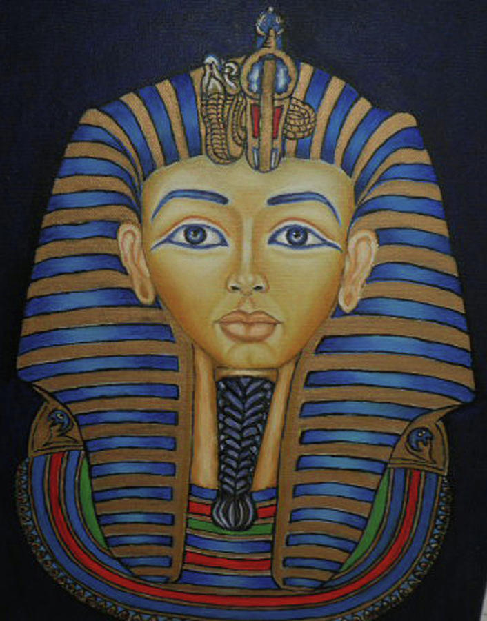 King Tut Painting - Tutankhamun by Margit Armbrust