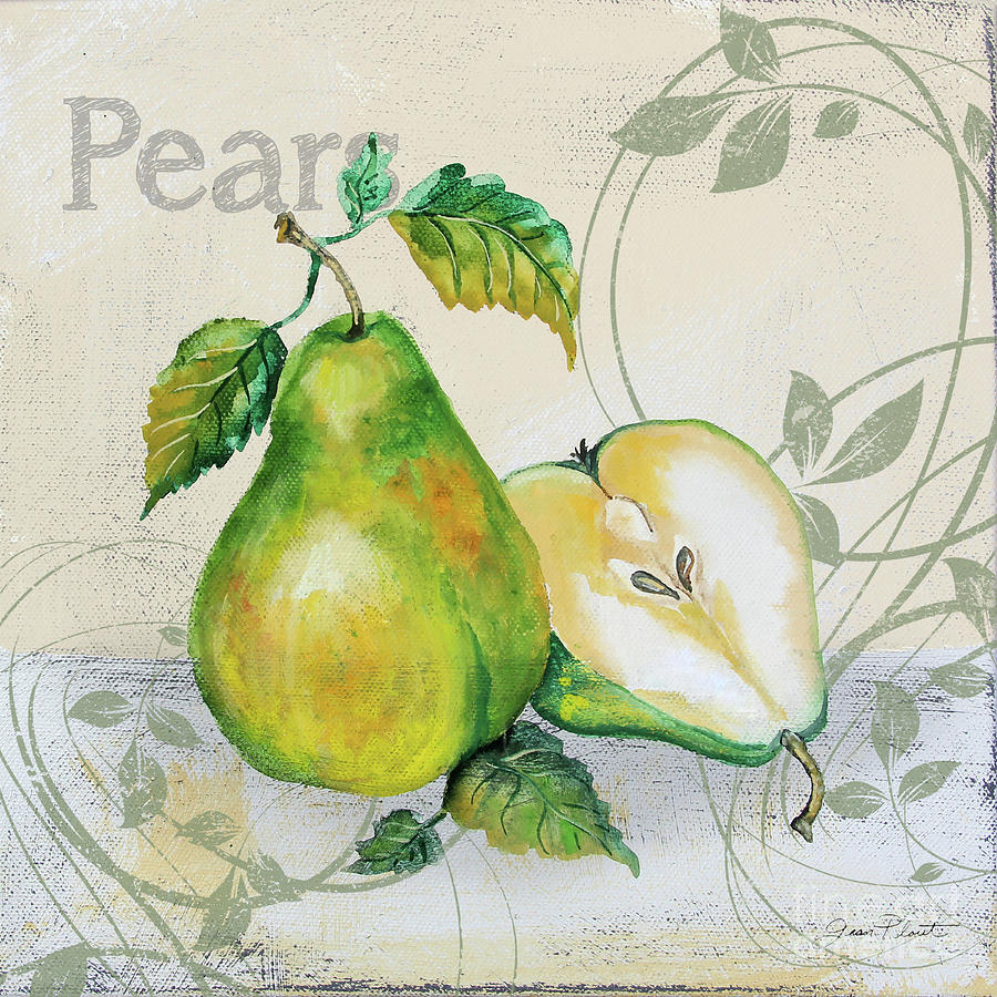 Tutti Fruiti Pears Painting by Jean Plout