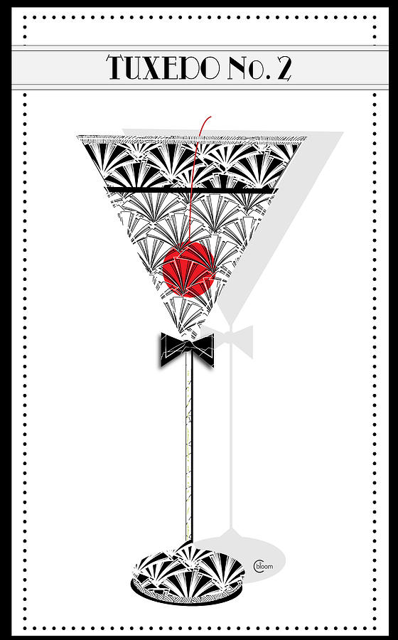 Tuxedo No. 2 Deco Swing Cocktail by Cecely Bloom