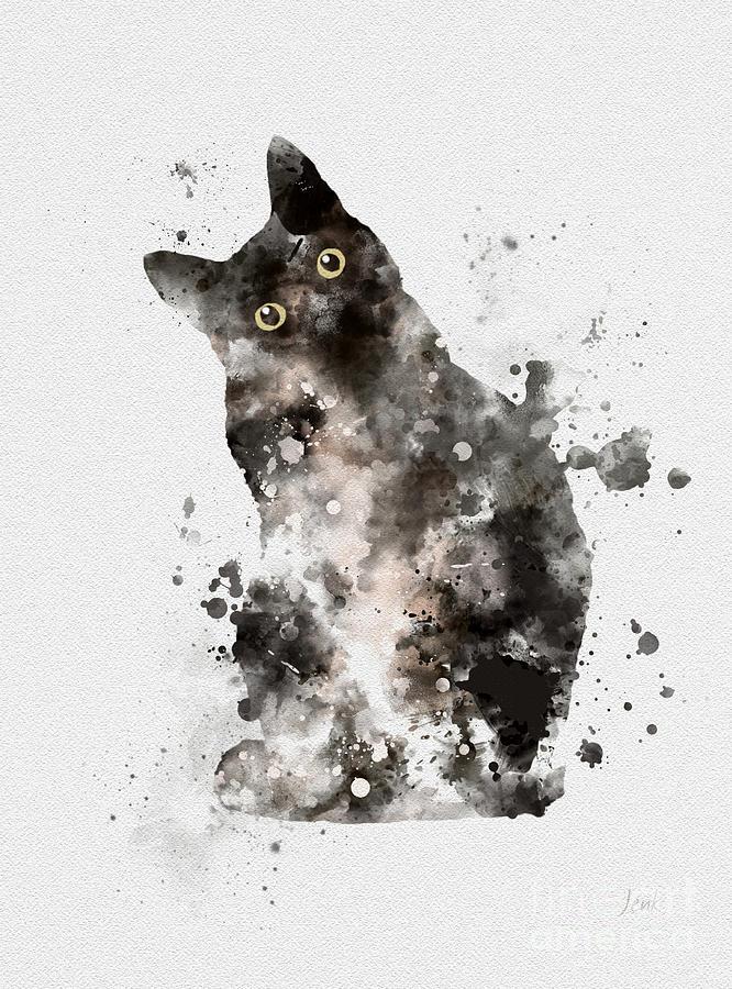 Cat Mixed Media - Tuxedo by My Inspiration