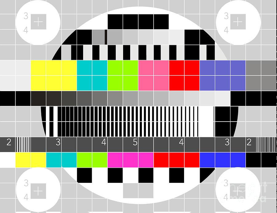 Television Digital Art - Tv Multicolor Signal Test Pattern by Aloysius Patrimonio
