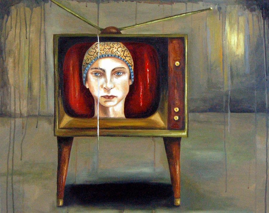 Tv Painting - Tv Series 1 by Leah Saulnier The Painting Maniac