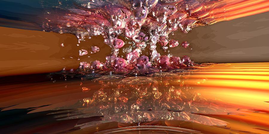 Fractal Landscape Digital Art - Tw 114 by Kaleb Larsen