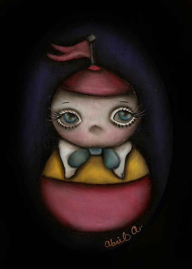 Alice In Wonderland Painting - Tweedle Dum by  Abril Andrade Griffith