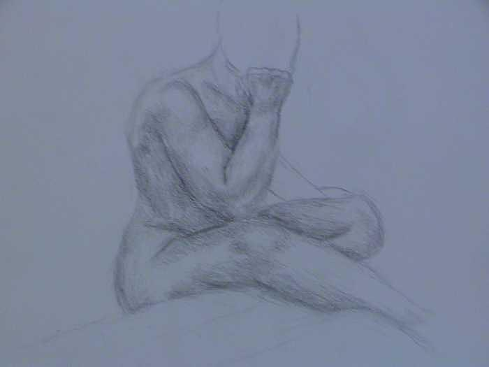Twenty Minute Figure Drawing Number Eleven Drawing by Neil Grotzinger