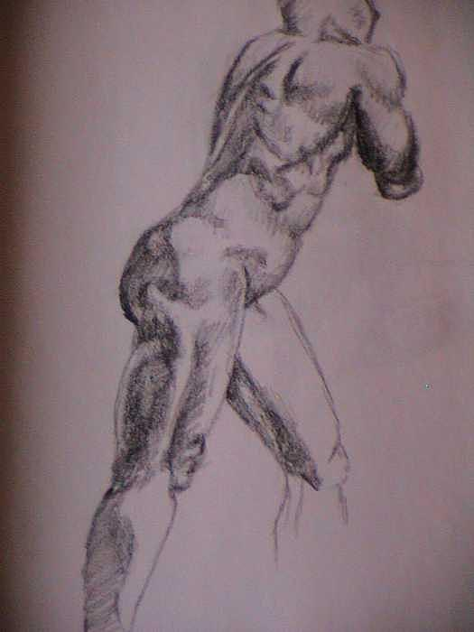 Twenty Minute Figure Drawing Number Five Drawing by Neil Grotzinger
