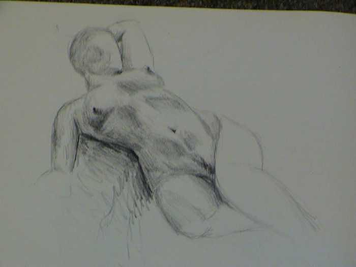 Twenty Minute Figure Drawing Number Nine Drawing by Neil Grotzinger