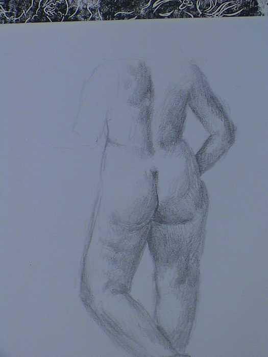 Twenty Minute Figure Drawing Number Twelve Painting by Neil Grotzinger