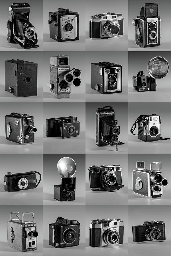 Twenty Old Cameras - Black and White by Art Whitton