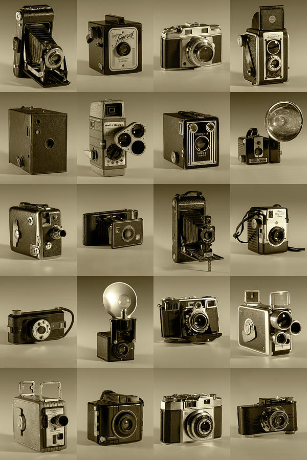 Twenty Old Cameras - Sepia by Art Whitton