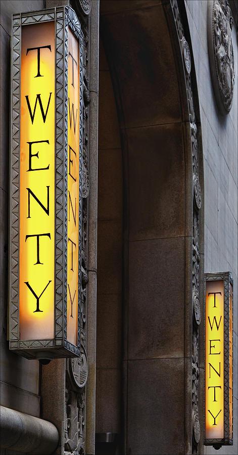 Sign Photograph - Twenty Twenty by Robert Ullmann