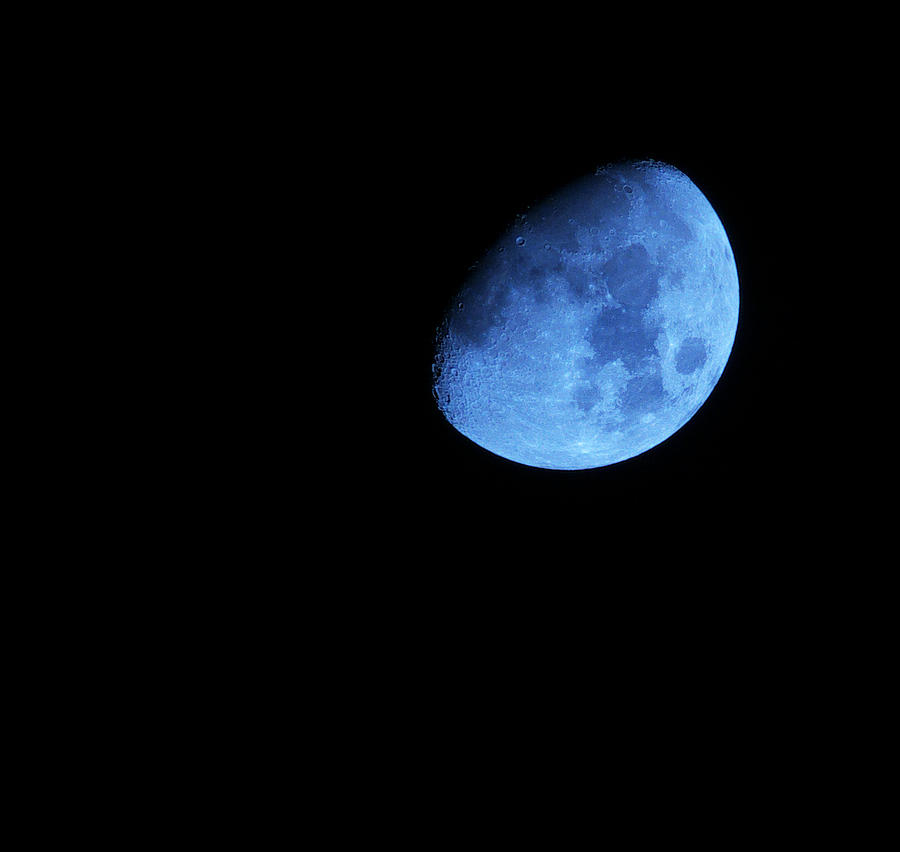 Twice in a blue Moon Photograph by Baato