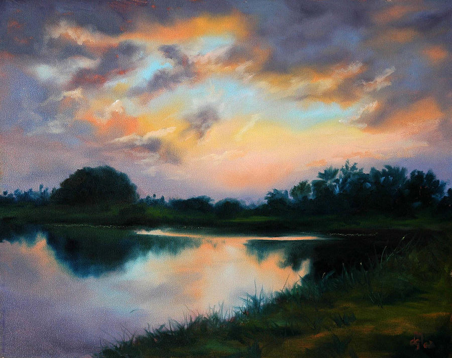 Florida Painting - Twilight by Diane Martens