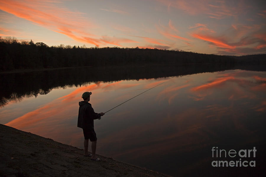 Twilight Photograph - Twilight Fishing Delight by John Stephens