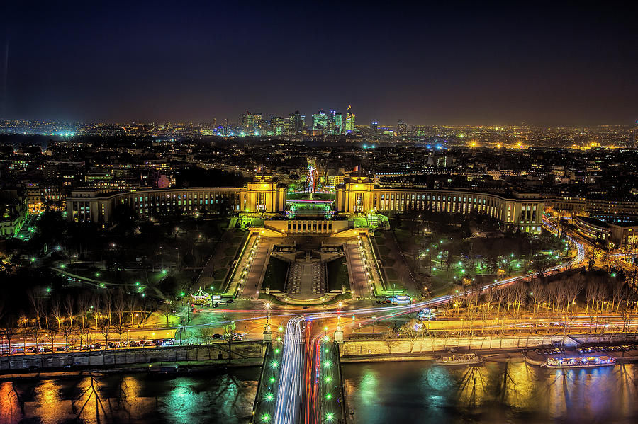 Paris Photograph - Twilight From The Eiffel Tower by Andrew Soundarajan