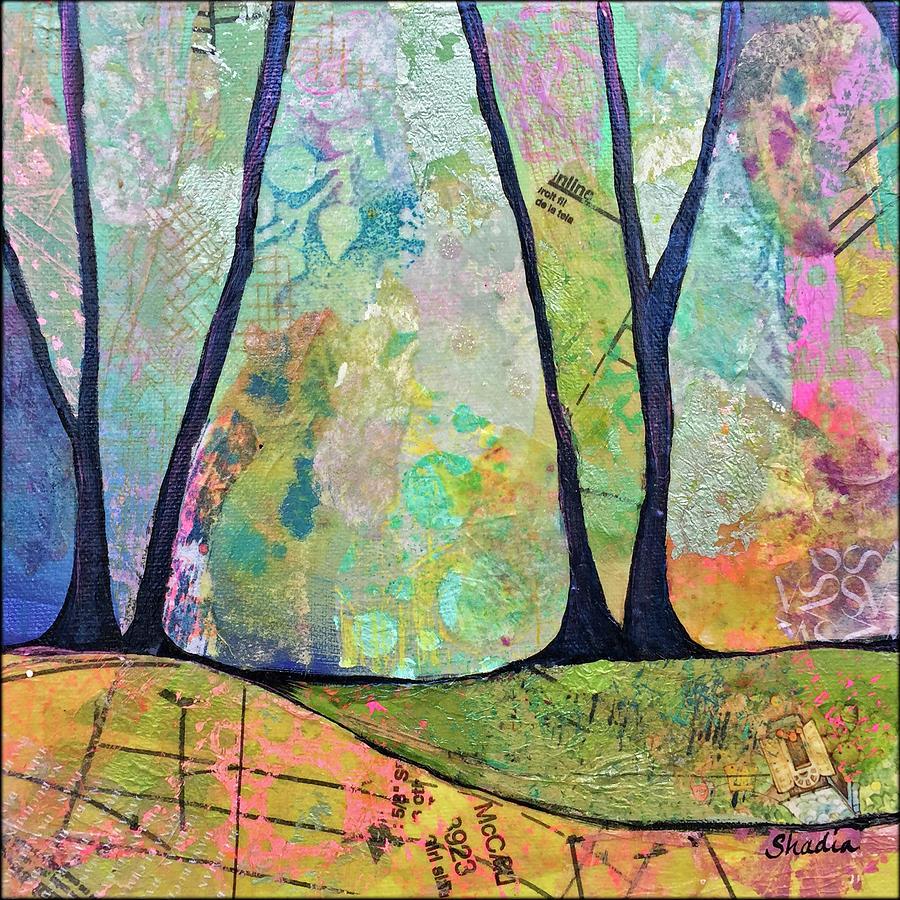 Fall Painting - Twilight I by Shadia Derbyshire