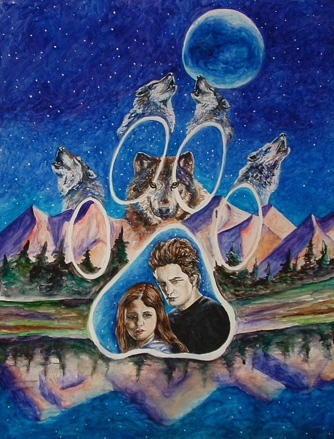 Twilight Movie Painting - Twilight Imprinting by Andrea  Darlington