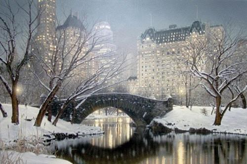 Twilight In Central Park Digital Art by Rod Chase