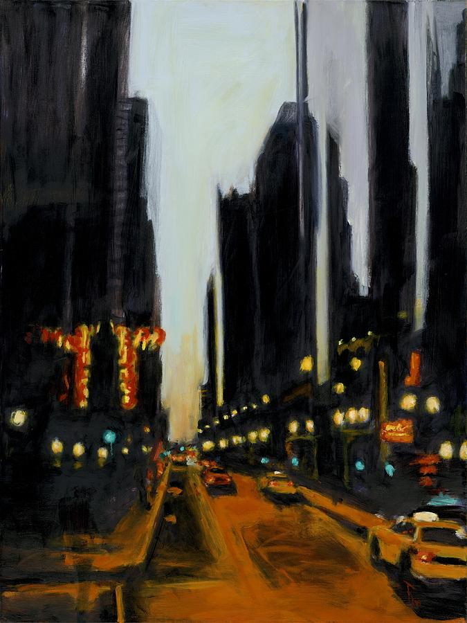 Rob Reeves Painting - Twilight In Chicago by Robert Reeves