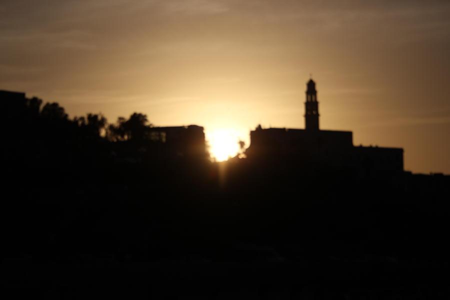 twilight in Jaffa. by Shlomo Zangilevitch