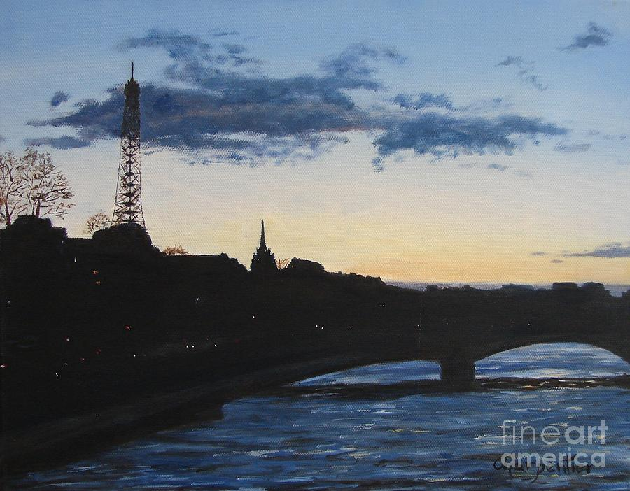 Paris Painting - Twilight In Paris by Marilyn Charpentier