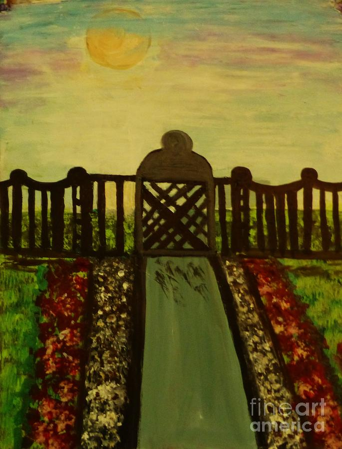 Landscape Painting - Twilight In The Park by Marie Bulger