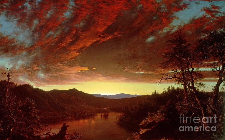 Twilight Painting - Twilight In The Wilderness by Frederic Edwin Church