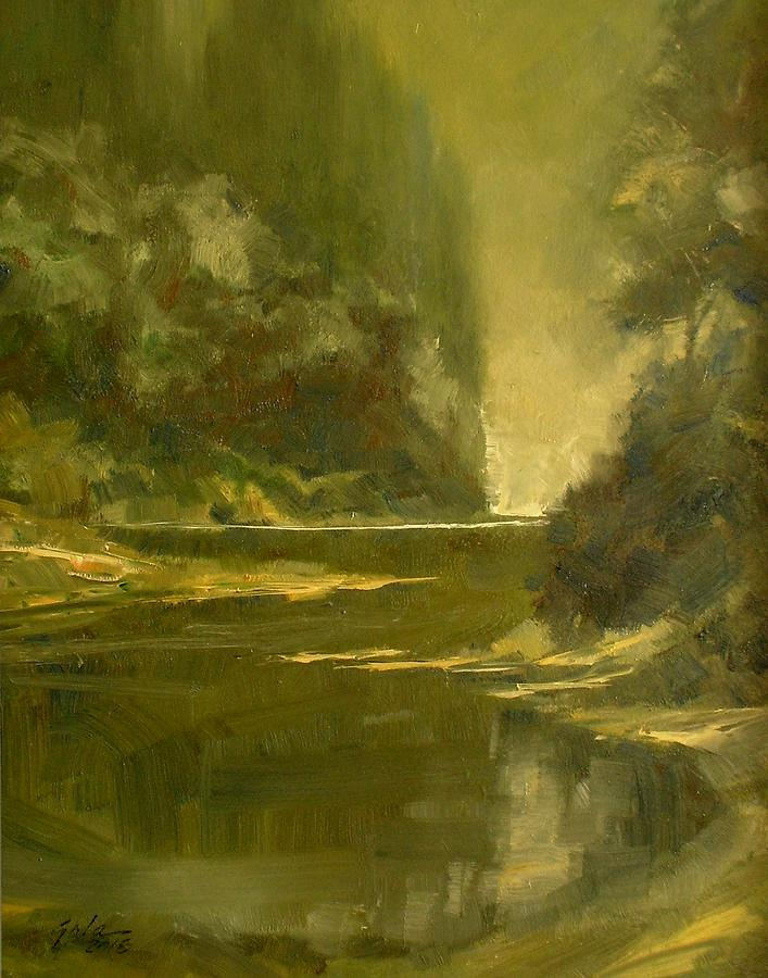 Tonalist Painting - Twilight by Jim Gola
