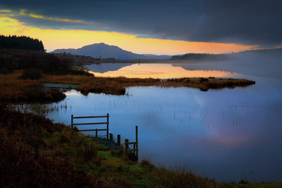 Scotland Photograph - Twilight, Loch Peallach by Peter OReilly