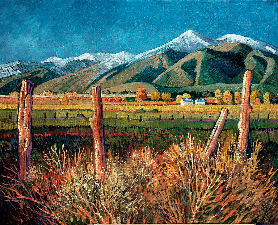 New Mexico Painting - Twilight On Taos Mountain by Donna Clair