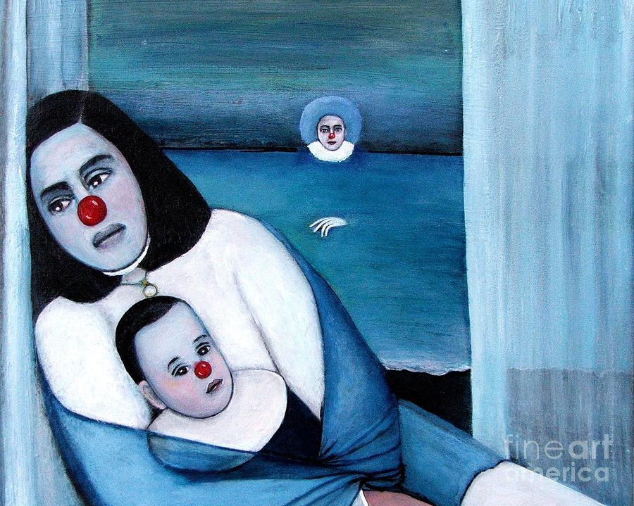 Mother And Child Painting - Twilight by Patricia Velasquez de Mera