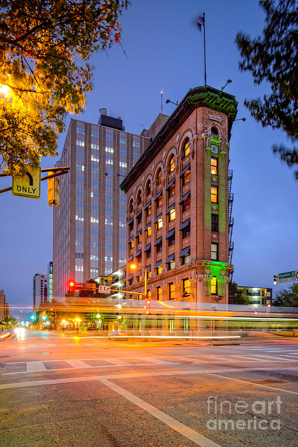 Downtown Photograph - Twilight Photograph Of The Flatiron Building In Downtown Fort Worth - Texas by Silvio Ligutti