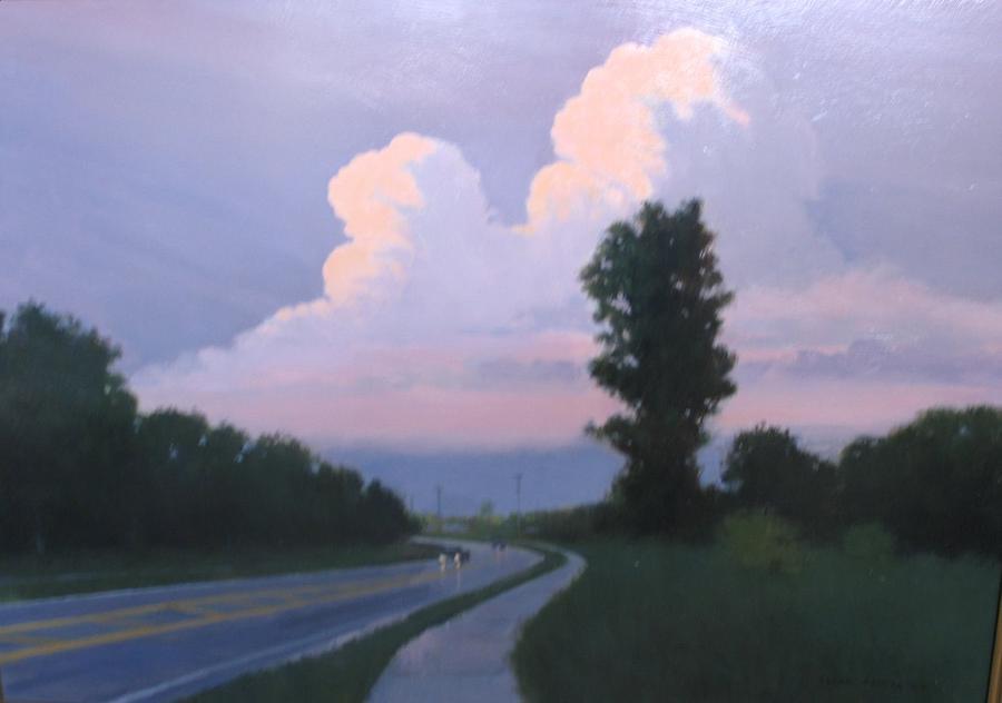 Landscape Painting - Twilight Rains by Frank Sadera